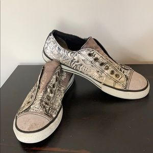 Ed Hardy Lowrise Canvas Sneakers, Women Sz 7